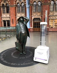 St Pancras International becomes world's first train station to introduce state-of-the-art cleaning robots