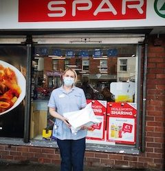 Spar helps deliver PPE for Marie Curie nurses