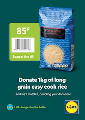 Lidl debuts scheme that allows shoppers to donate food to local community by scanning flyer on selected food