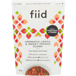 fiid expands range with new vegan lunch bowl