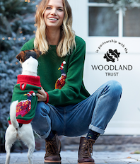 Joules celebrates Christmas with The Woodland Trust