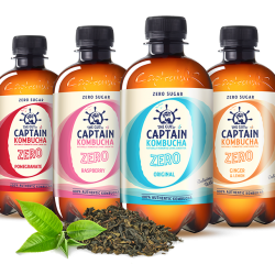 The GUTsy Captain, Europe's largest Kombucha brand, to release zero sugar/zero calorie range
