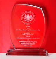 Mutti – No.1 tomato brand in Italy and Europe – is awarded The British Chamber of Commerce for Italy (BCCI) WPP Corporate Social Responsibility Award