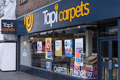 Tapi Carpets appoints Widd Signs to deliver branded signage for new stores