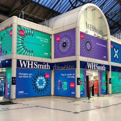 WHSmith Victoria given colourful makeover to mark national launch of Core Bolt mobile accessories