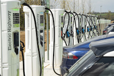 Electric Highway opens UK's largest high power motorway EV charging site, at Moto's new Rugby Services