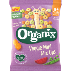 Organix launches fun-shaped Veggie Mini Mix-Ups bringing grown-up flavours to the baby aisle