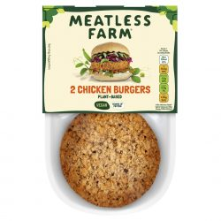Plant-based meat company to launch chicken burger into retail
