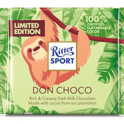 New limited-edition bar is Ritter Sport's first dark milk bar and it's made with cocoa from its own plantation