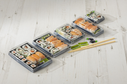 New Luxifood sushi pack from Sharpak brings unique advantages to food-to-go market