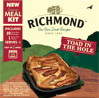 Richmond Sausages launches Toad in the Hole Easy Meal Kit to cater to more family mealtimes