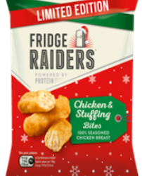 Fridge Raiders gets into the Christmas spirit with relaunch of Festive Chicken & Stuffing Chicken Bites