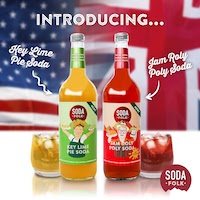 Soda Folk launches two new flavours, Key Lime Pie and Jam Roly Poly in 750ml sharing bottles